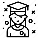 avatar, job, profile, student icon