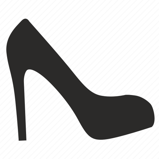 heeled, high, shoes icon
