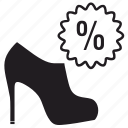 sale, shoes icon