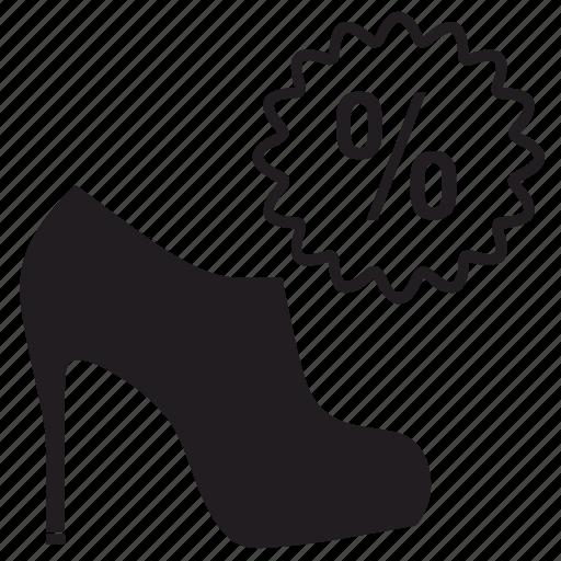 sale, shoes icon