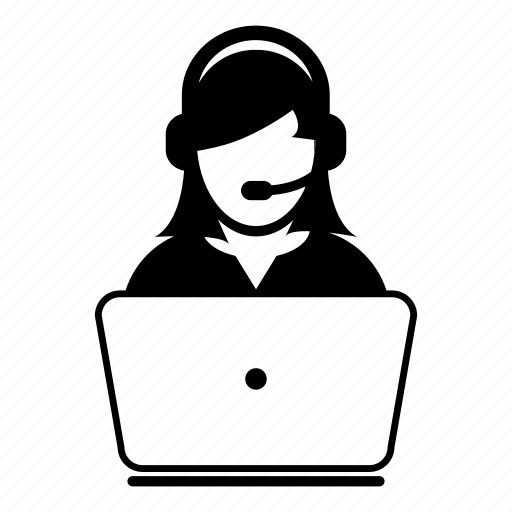 Call center, customer, laptop, online, service, support, woman icon - Download on Iconfinder
