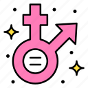 equality, female, gender, male, sexual, orientation icon