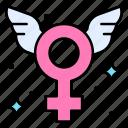 angel, fairy, fay, female, gender