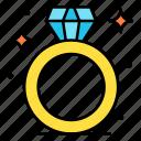 diamond, proposal, ring, wedding, present