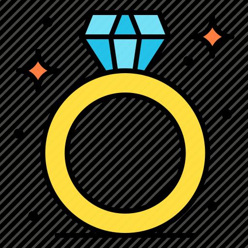 Diamond, proposal, ring, wedding, present icon - Download on Iconfinder