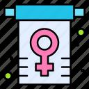 sign, women, flag, rights, gender