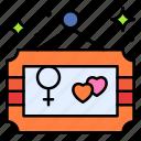 frame, heart, love, gender, female