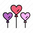 balloon, day, heart, love, women, womens icon