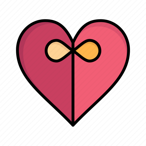 day, gift, heart, ribbon, women, womens icon