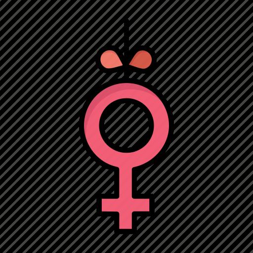 day, gender, ribbon, women, womens icon