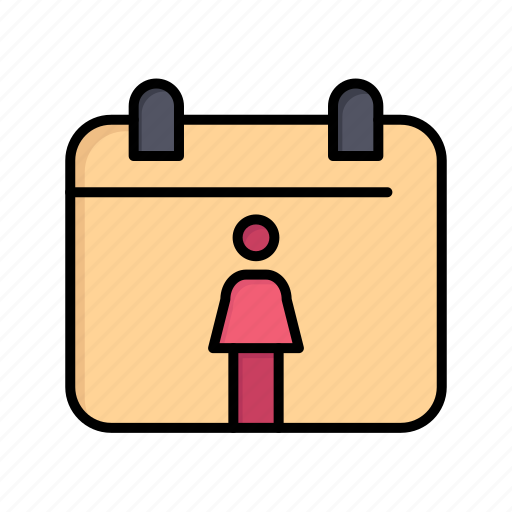 calendar, day, female, women, womens icon
