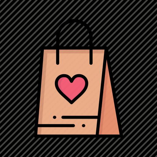 bag, day, gift, love, shopping, women, womens icon