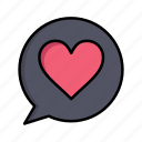 chat, day, heart, love, women, womens icon