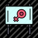 board, message, womens, day, women, ad icon