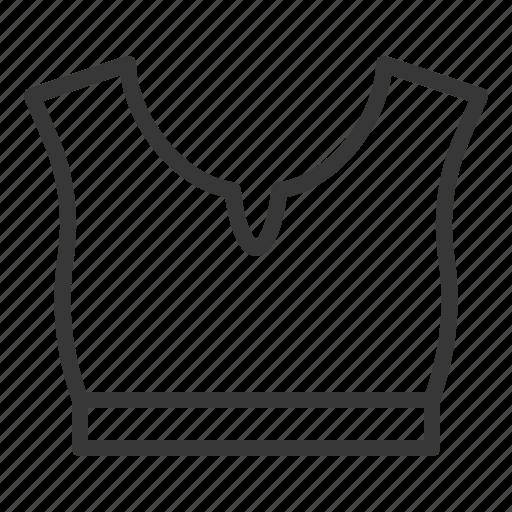 clothes, fashion, female, half top, women, women's clothing icon
