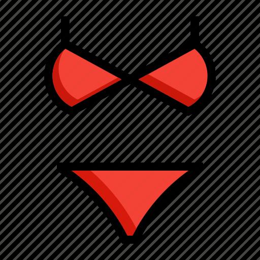bathing, bikini, costume, suit, swim icon