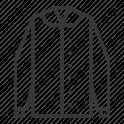 clothes, fashion, female, long sleeve shirt, women, women's clothing icon