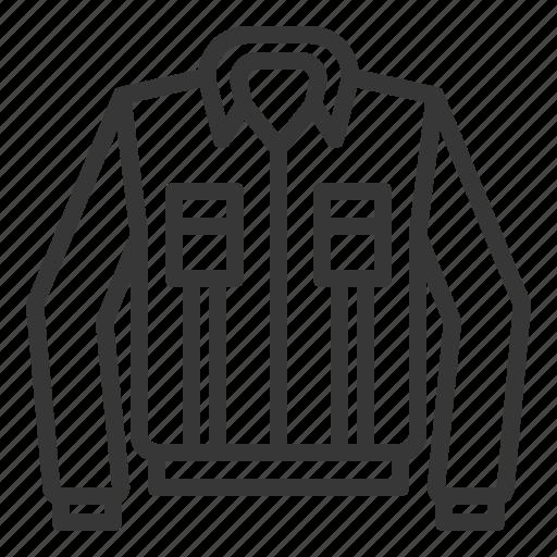 clothes, fashion, female, jacket, long sleeve shirt, women, women's clothing icon