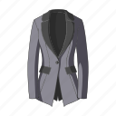 accessory, blazer, female clothes, goods, jacket, thing icon
