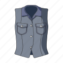accessory, clothing, female clothes, goods, thing, vest, waistcoat icon