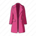 accessory, cloak, clothing, coat, female clothes, goods, thing icon