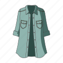 accessory, clothing, coat, fashion, female clothes, goods, thing icon