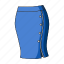accessory, female clothes, goods, skirt, thing icon