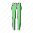 accessory, clothing, female clothes, goods, jeans, pants, thing icon