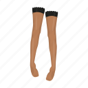 legs, tights, women's clothing icon