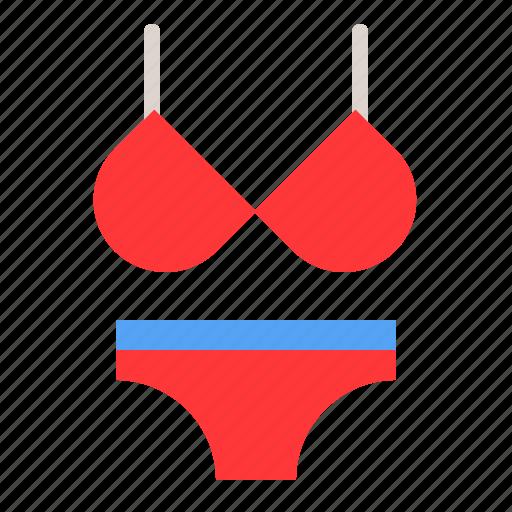 clothes, fashion, female, underwear, women, women's clothing icon