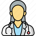 doctor, nurse, stethoscope, healthcare
