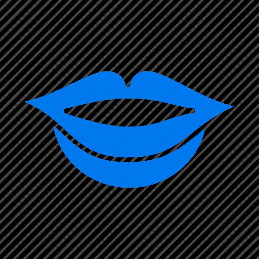 girl, lips icon