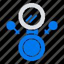 eight, mirror, symbol icon