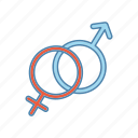 female, gender, heterosexuality, male, man, sex sign, woman icon