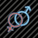 female, gender, heterosexuality, male, man, sex sign, woman icon