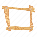 board, cartoon, drawing, frame, grass, signboard, wood icon