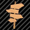 board, cartoon, drawing, grass, retro, signboard, wood icon
