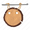 board, cartoon, drawing, grass, plate, signboard, wood icon
