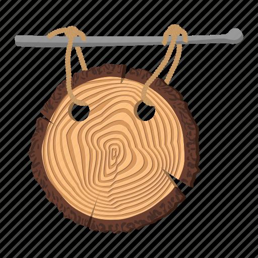 board, cartoon, drawing, grass, plate, signboard, wood icon