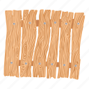 board, cartoon, drawing, fence, grass, signboard, wood icon