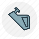 construction, design, equipment, nail, nail in wood, tools icon icon