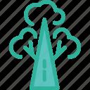 big tree, nature, tree, tropical icon icon