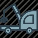 car, crane, transport, vehicle icon icon