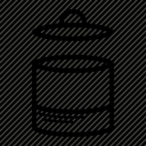 can, delete, empty, garbage, lid, trash icon