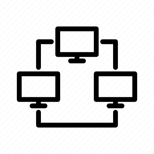 b, line, office icon