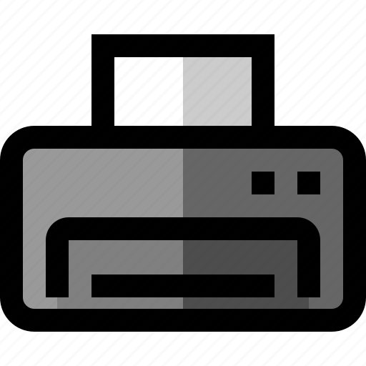 document, office, print, printer icon