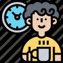 coffee, break, relax, morning, refreshment