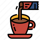 coffee, drink, hot, instant, workfromhome icon