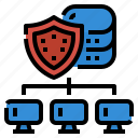 computer, cybersecurity, defense, network, workfromhome icon
