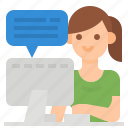 business, chat, meeting, message, workfromhome icon